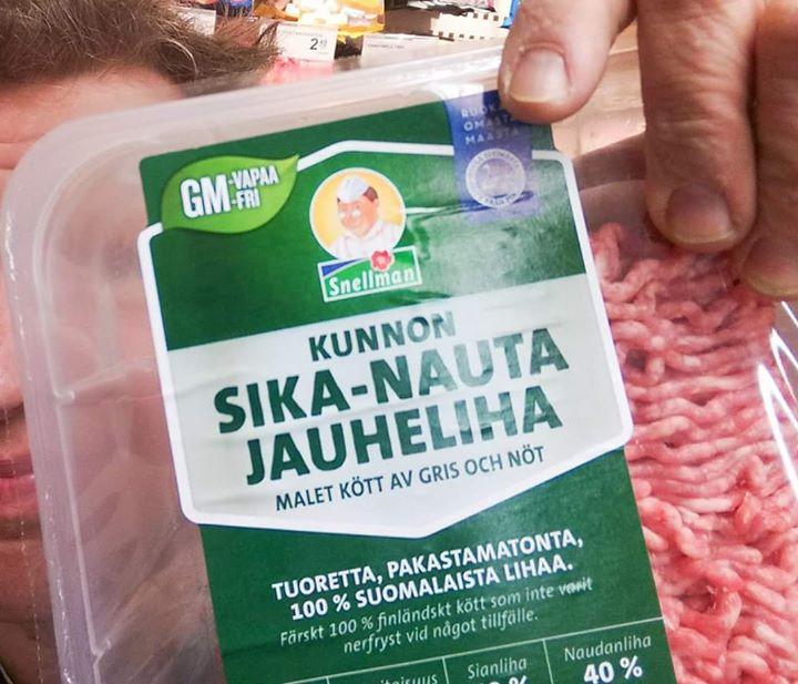 Nyt on Snellmanin sika-nauta suorastaan sika(-nauta)mai...