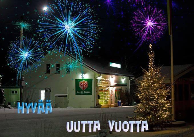 Hyvää uutta vuotta! Kiitos asiakkaille menneestä vuodes...